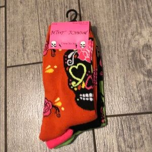 Betsey Johnson 3 pairs of Halloween crew socks